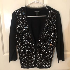 WHBM Cardigan with Pearl and Sequins